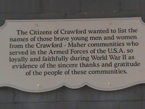 Here's the plaque detailing the honorable service of these men. This community will surely honor our wounded as they come to the WW-SAD Health Retreat