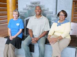 Pictured left to right: Devorah England, WW - SAD Executive Director, Kalvin Evans, Wounded Warriors Restoration Center Program Director, Carolyn Ramey-Kennedy, Nursing/Medical Support Staff are excited about the many opportunities that will be available to help change lives for the better.